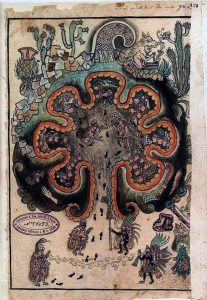 """(Imagen del Códice """"Historia Chichimeca Tolteca"""" del Siglo XVI)."""